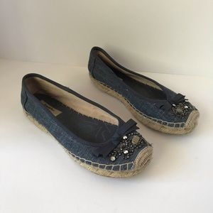 Simply Vera Wang Denim espadrilles beaded
